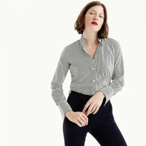 J. CREW Stretch Tailored Perfect Bodysuit Striped